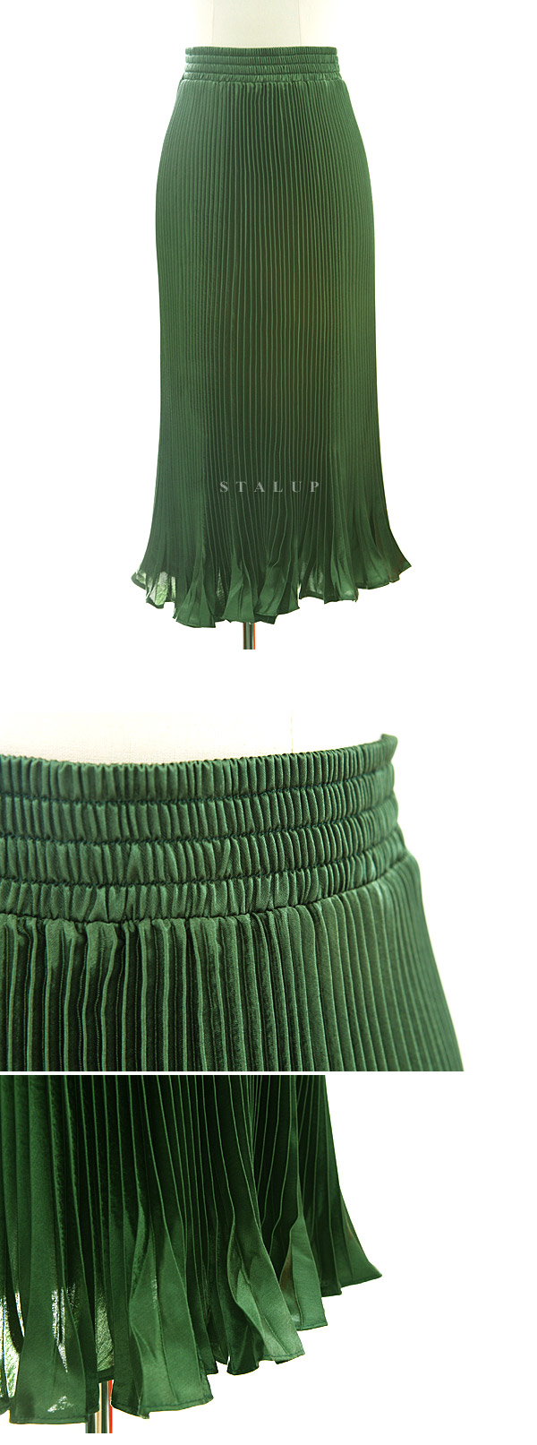 Glitter pleats skirtⓖ