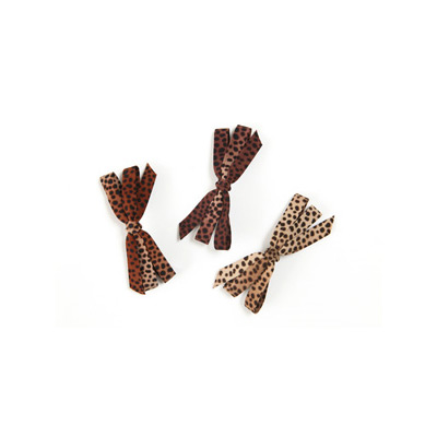 leopard ribbon pin