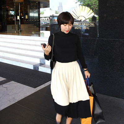 CELIN pleats Knit skirt